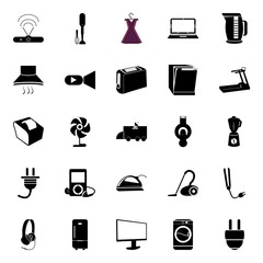 electronic and home tools icons set