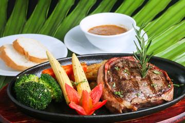 pork steak grilled