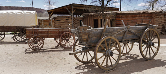 Old pioneers wagon, Utah