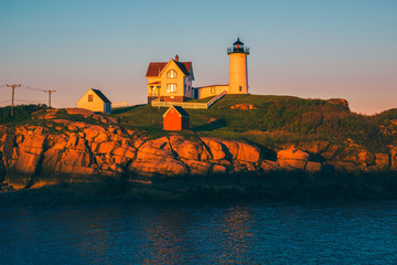 Nubble Lighthouse in York Maine USA