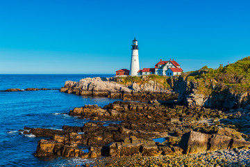 Portland Head Light Lighthouse in Cape Elizabeth Maine