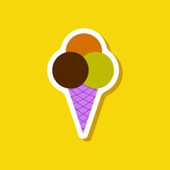 paper sticker Ice cream balls