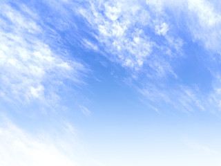 Clouds on blue sky. Background