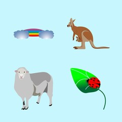 icons about Animal with lovely, leaf, mascot, nature and native