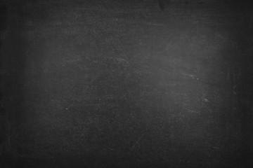 Blank black chalkboard, blackboard texture