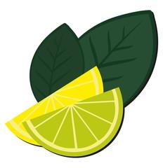 Дольки лимона и лайма.