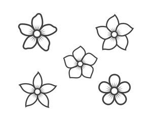 Jasmine flower icon logo template