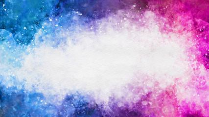 Artistic colorful watercolor splash effect template