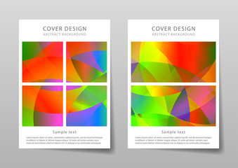 Brochure template with abstract background. Vector illustration