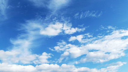 Blue sky and white clouds.The natural background.
