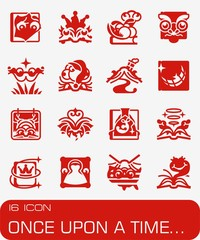 Vector Once Upon A Time icon set