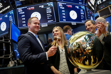 Marshall Eves, CEO of Boaz Energy II, LLC, rings a ceremonial bell during the IPO of PermRock Royalty Trust on the floor of the NYSE in New York