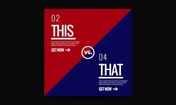 This Versus That Comparison Text Template