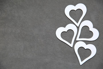 White clean heart on a gray background for all lovers.