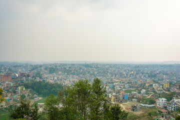 Panorama of the capital city of Nepal, Kathmandu.
