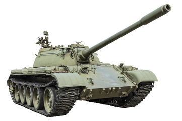 T-55 Russian tank isolated on white background