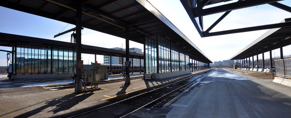 Fotobehang Treinstation Ottawa Train Station on 200 Tremblay Road in Ottawa, Ontario, Canada.