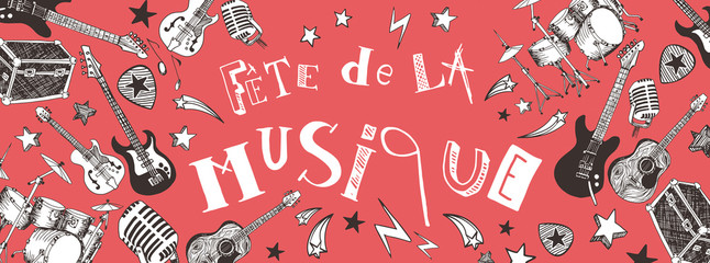 French Music festival banner