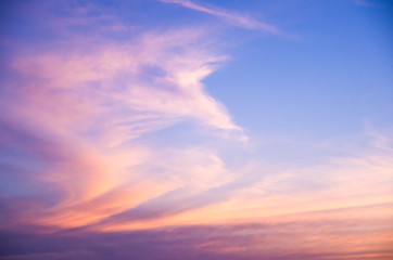 Beautiful colored sky for various backgrounds