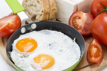 Fond de hotte en verre imprimé Ouf Fried eggs