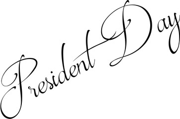 President Day text sign illustration