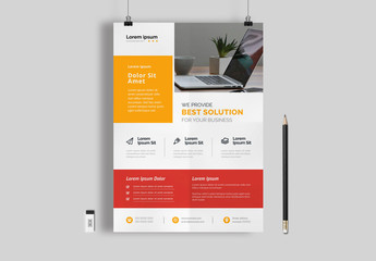 Flyer Layout with Large Photo Placement Area