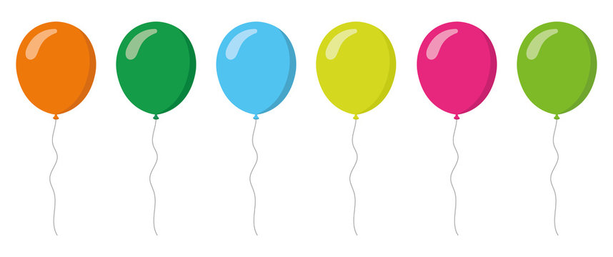 colorful balloons collection. Flat style. Vector illustation