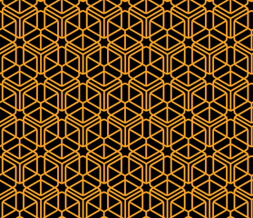 Geometrical cubical seamless pattern Modern linear background