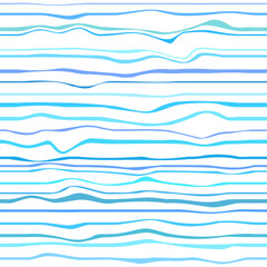 Nautical background. Seamless pattern with lines and waves. Multicolored texture. Dinamic background. Cold colors. Art creative. Decorative style. Line art creation