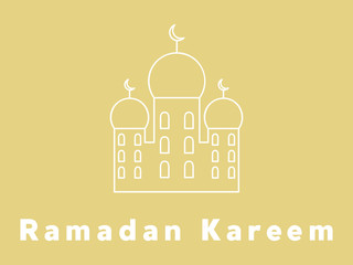 Ramadan Kareem background and the inscription Ramadan Kareem