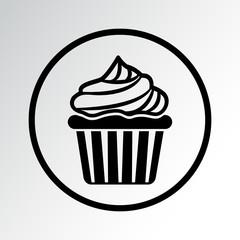 Cupcake icon. Vector illustration
