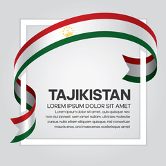 Tajikistan flag background