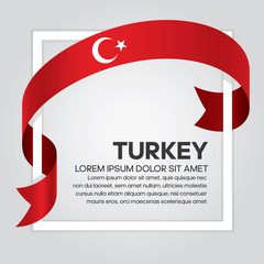 Turkey flag background