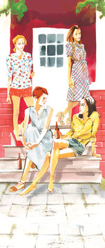 Women on porch