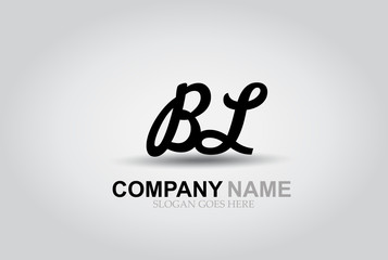 Vector Hand Drawn Letter BL Style Alphabet Font.