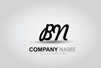 Vector Hand Drawn Letter BN Style Alphabet Font.