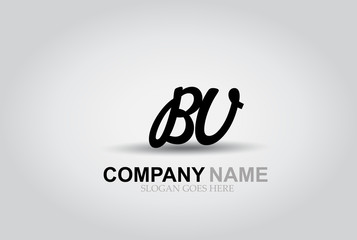 Vector Hand Drawn Letter BV Style Alphabet Font.