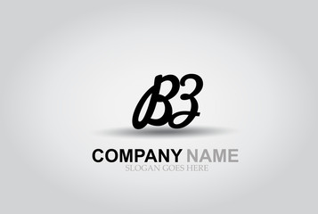 Vector Hand Drawn Letter BZ Style Alphabet Font.