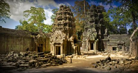 Temple ruins in Vietnam.
