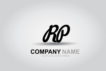 Vector Hand Drawn Letter RP Style Alphabet Font.