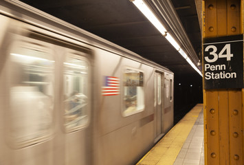 Subway Train 34th Street