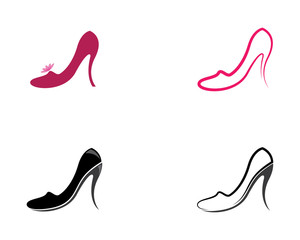 High heel vector icon