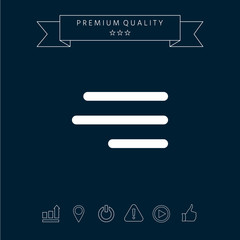 Modern hamburger menu icon for mobile apps and websites