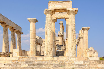 The Temple of Athena Aphaia is one of the ancient architectural wonders - Aegina, Greece