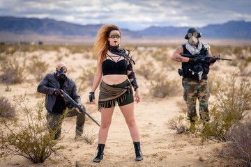In a post-apocalyptic desert wasteland, a Queen of the Apocalypse leads her militia against the enemy. Armed to the teeth, who will win? Post-Apocalyptic inspired and shot in the California Desert