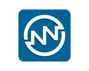 blue rectangle initial typography typeset logotype alphabet font image vector icon logo symbol