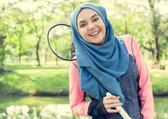 Islamic woman healthy lifestyle