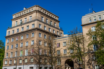 Dans la quartier de Nowa Huta à Cracovie