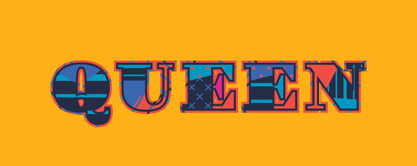 Queen Concept Word Art Illustration