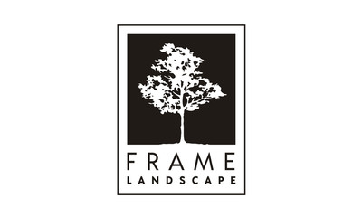 Frame of Tree logo design inspiration